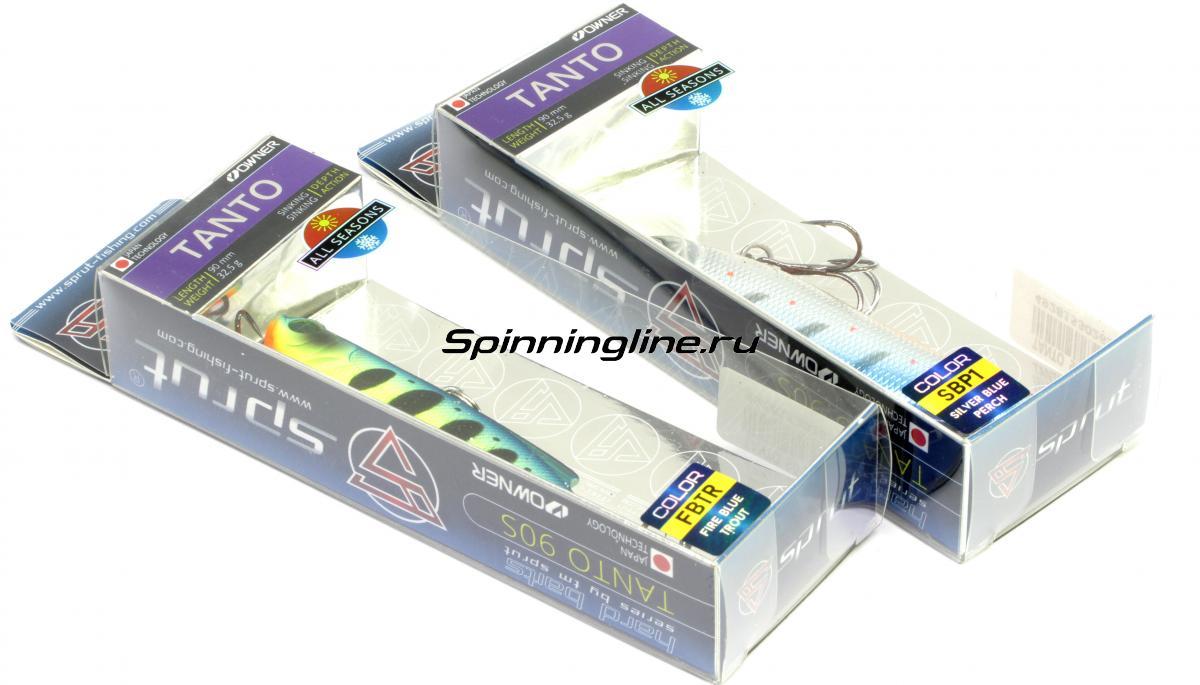 Воблер Sprut Tanto 90S FT - Данное фото демонстрирует вид упаковки, а не товара. Товар на фото может отличаться по цвету, комплектации и т.д. Дизайн упаковки может быть изменен производителем 1