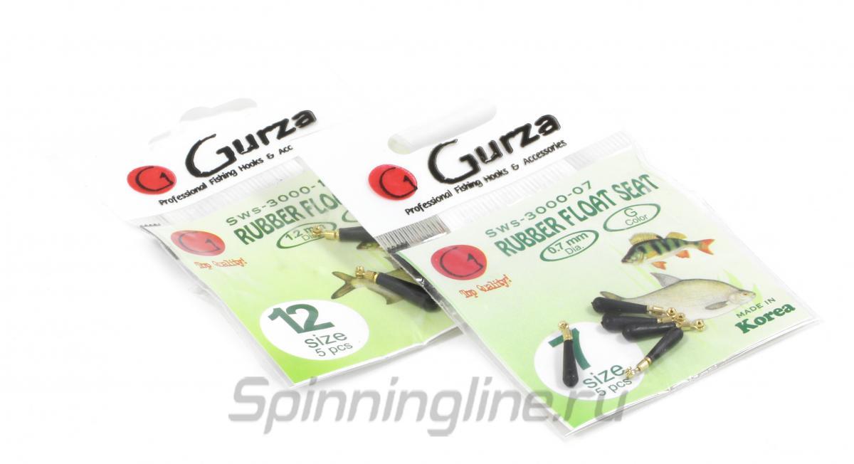 Вертлюг с карабином Gurza Rubber Float Seat №12 - Данное фото демонстрирует вид упаковки, а не товара. Товар на фото может отличаться по цвету, комплектации и т.д. Дизайн упаковки может быть изменен производителем 1