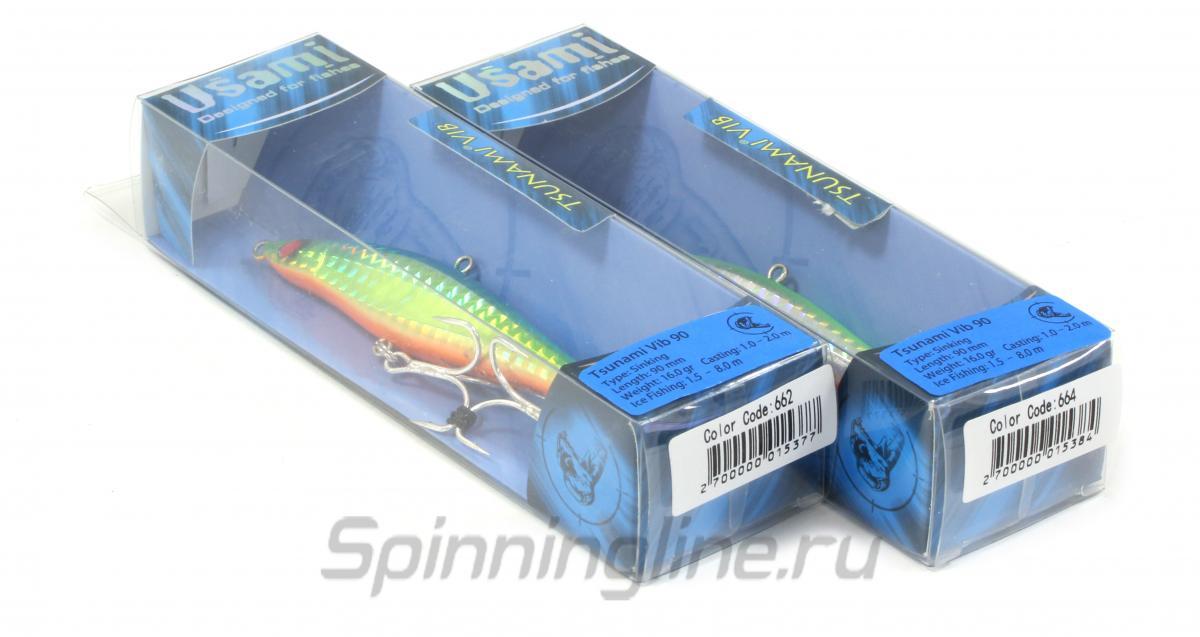 Воблер Usami Tsunami Vib 75S 664 - Данное фото демонстрирует вид упаковки, а не товара. Товар на фото может отличаться по цвету, комплектации и т.д. Дизайн упаковки может быть изменен производителем 1