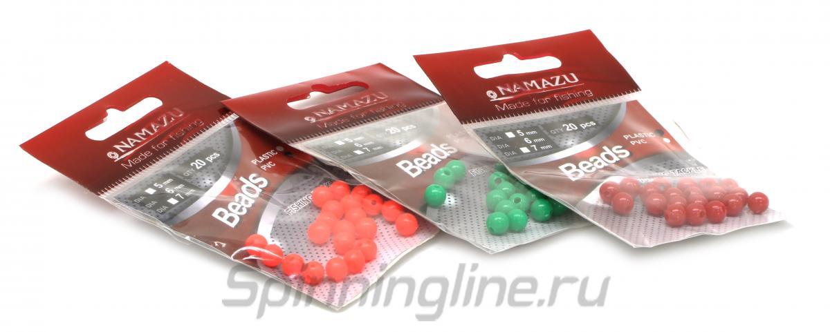 Бусина фидерная Namazu PVC 6мм черная - фотография упаковки (дизайн упаковки может быть изменен производителем) 1