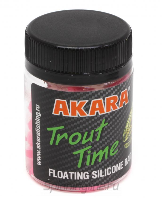 """Приманка Akara Trout Time Worm 3"""" 420 Shrimp - Данное фото демонстрирует вид упаковки, а не товара. Товар на фото может отличаться по цвету, комплектации и т.д. Дизайн упаковки может быть изменен производителем 1"""