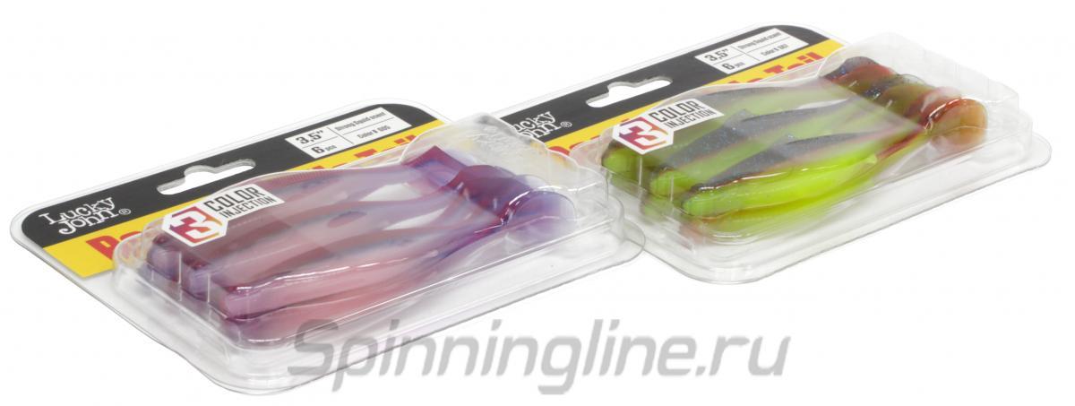 Приманка Lucky John Roach Paddle Tail 127/G06 - Данное фото демонстрирует вид упаковки, а не товара. Товар на фото может отличаться по цвету, комплектации и т.д. Дизайн упаковки может быть изменен производителем 1