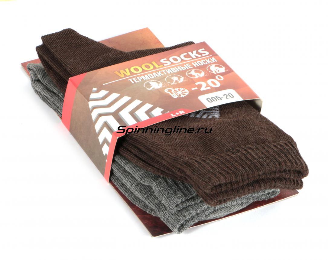 Комплект термоносков WoodLine Wool 44-46 - Данное фото демонстрирует вид упаковки, а не товара. Товар на фото может отличаться по цвету, комплектации и т.д. Дизайн упаковки может быть изменен производителем 1