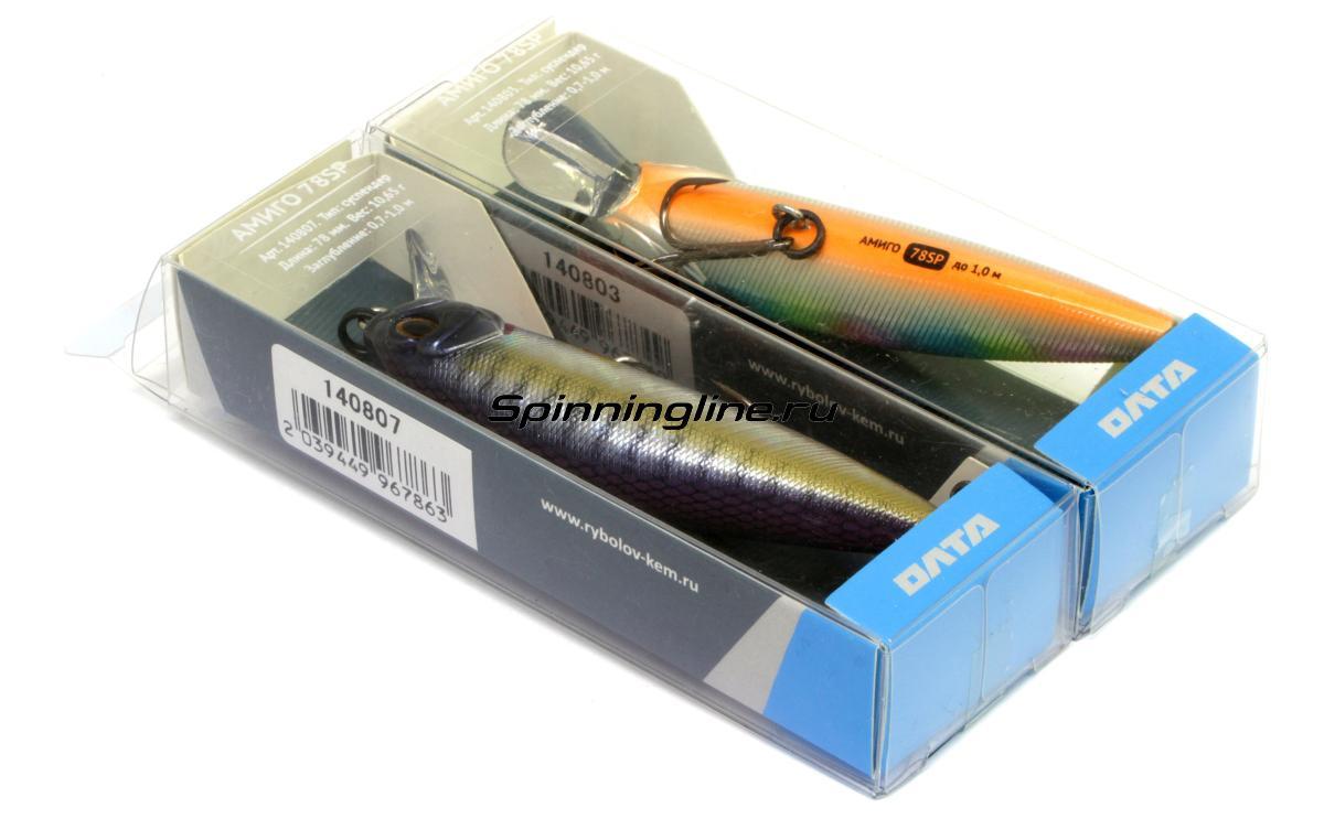 Воблер Рыболов-Олта Амиго 78SP корюшка - Данное фото демонстрирует вид упаковки, а не товара. Товар на фото может отличаться по цвету, комплектации и т.д. Дизайн упаковки может быть изменен производителем 1