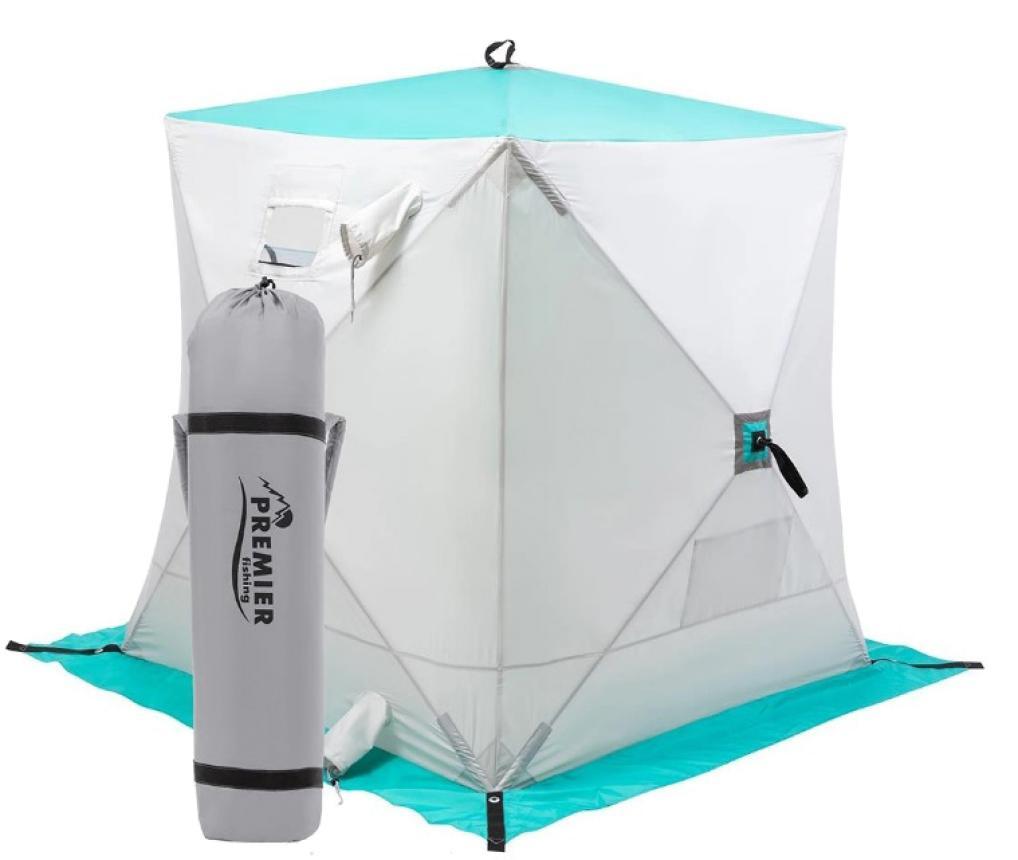 Палатка зимняя Premier Куб 1,5*1,5 Biruza/Grey