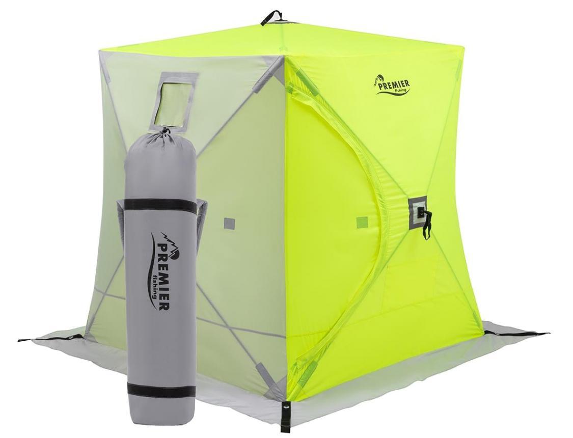 Палатка зимняя Premier Куб 1,8*1,8 Yellow Lumi/Grey - фото предоставлено поставщиком 1