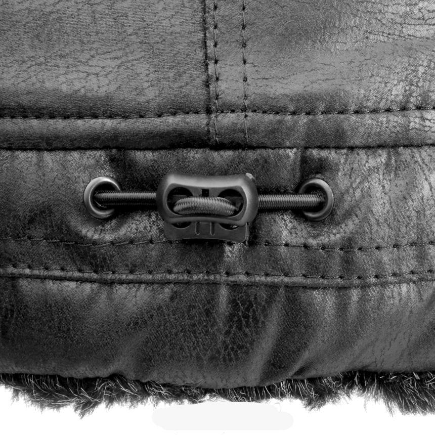 Шапка-ушанка Helios Angara Мех Меланж/Крэк Лайт L черный - фото предоставлено поставщиком 2