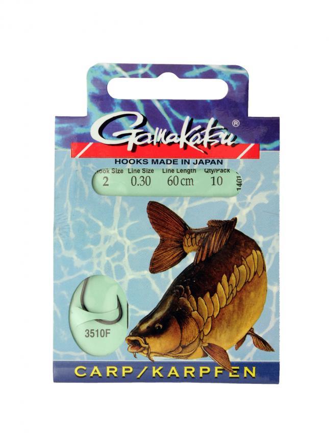 Готовый поводок Gamakatsu BKS-3510F Carp №2 60см d0,30, арт. 140142-00200 – купить по цене 264 рубля в Москве и по всей России в рыболовном интернет-магазине Spinningline