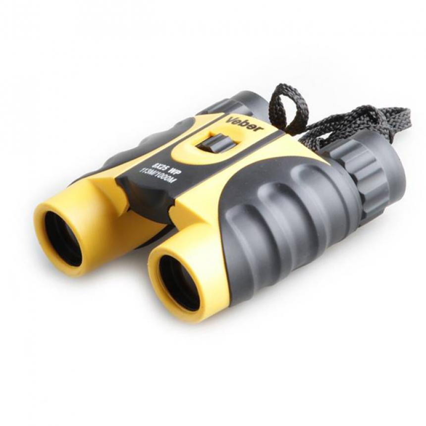 Бинокль Veber 8x25 WP желто-черный