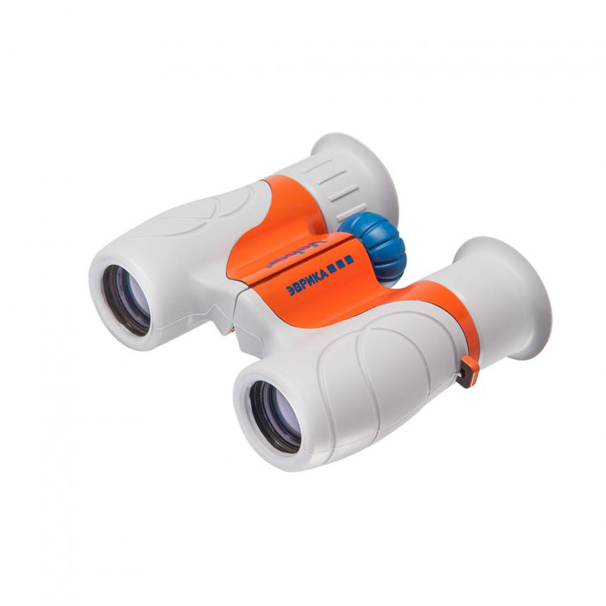 Бинокль детский Veber «Эврика» 6x21 серо-оранжевый