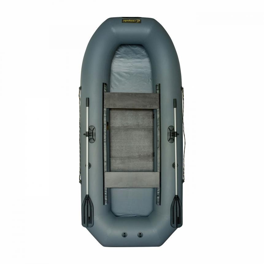 Лодка ПВХ Leader Компакт-290 гребная серый - фото предоставленно поставщиком 3