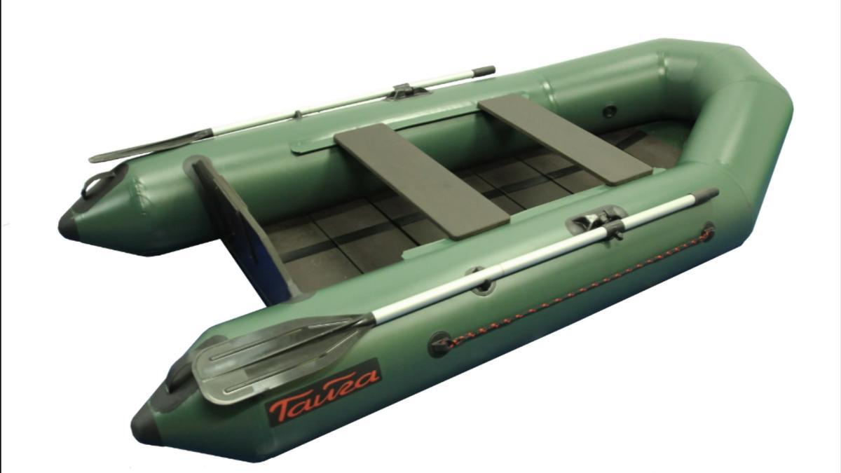 Лодка ПВХ Leader Тайга-270 (С-пб) серый New