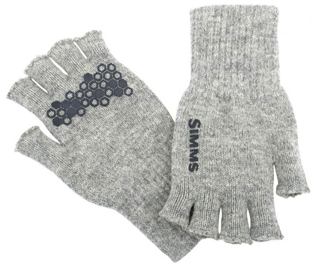 Перчатки Simms Wool Half-Finger Glove L/XL Cinder