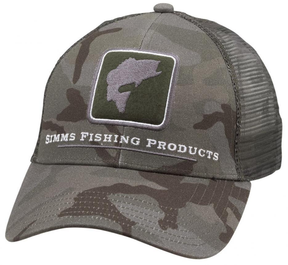 Кепка Simms Bass Icon Trucker Hat Pico Camo Mineral