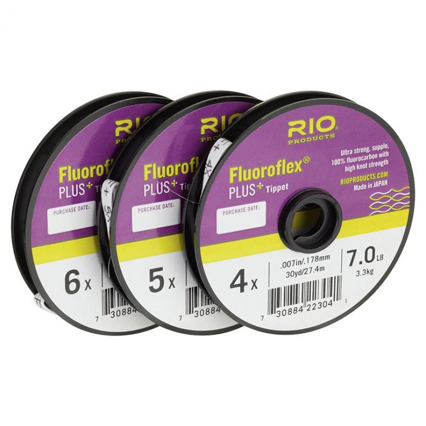 Поводковый материал Rio Fluoroflex Plus Tippet 3-pack 30yd 3X/4X/5X