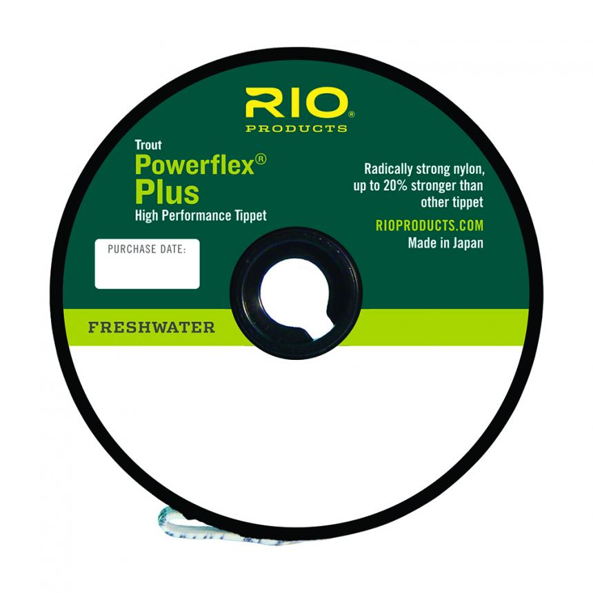 Поводковый материал Rio Powerflex Plus Freshwater Tippet 6X 46м 0,127мм
