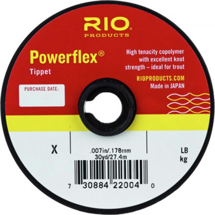 Поводковый материал Rio Powerflex Tippet 7X 27,4м 0,102мм