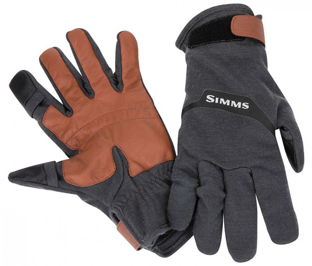 Перчатки Simms Lightweight Wool Tech Glove XL Carbon