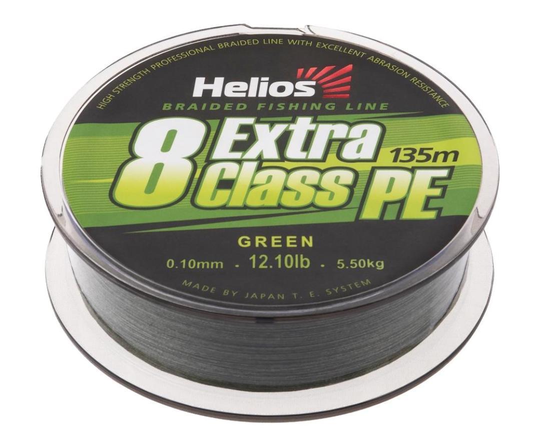 Шнур Helios Extra Class 8 PE Braid 135м 0,15мм Green