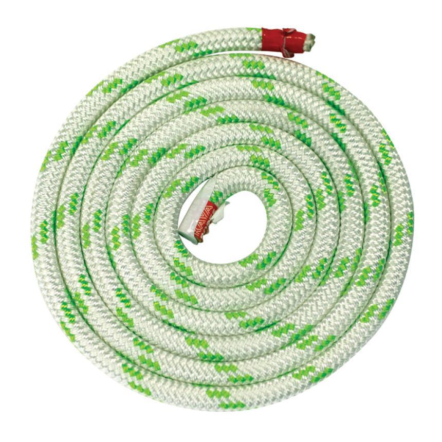 Трос Kaya Ropes Lupes LS 12мм бело-зелёный 50м