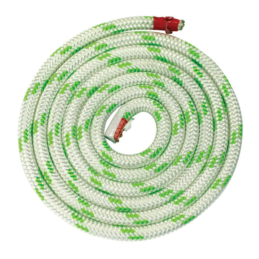 Трос Kaya Ropes Lupes LS 14мм бело-зелёный 100м