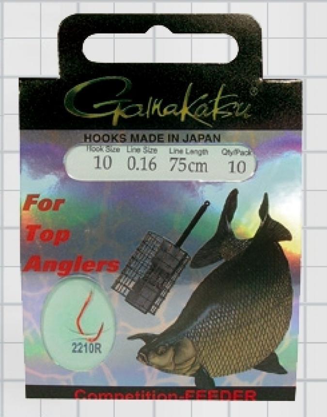 Готовый поводок Gamakatsu BKS-2210R Breamfeeder №12 75см d0,18