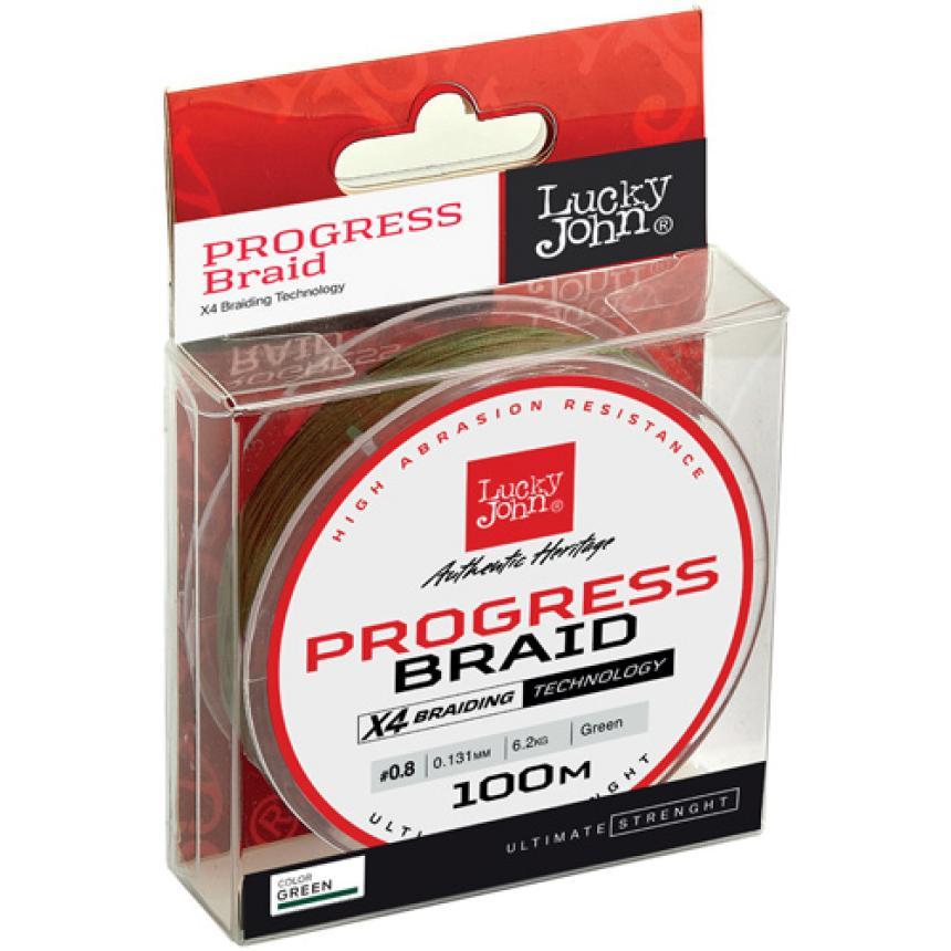 Шнур Lucky John Progress Braid 100м 0,13мм