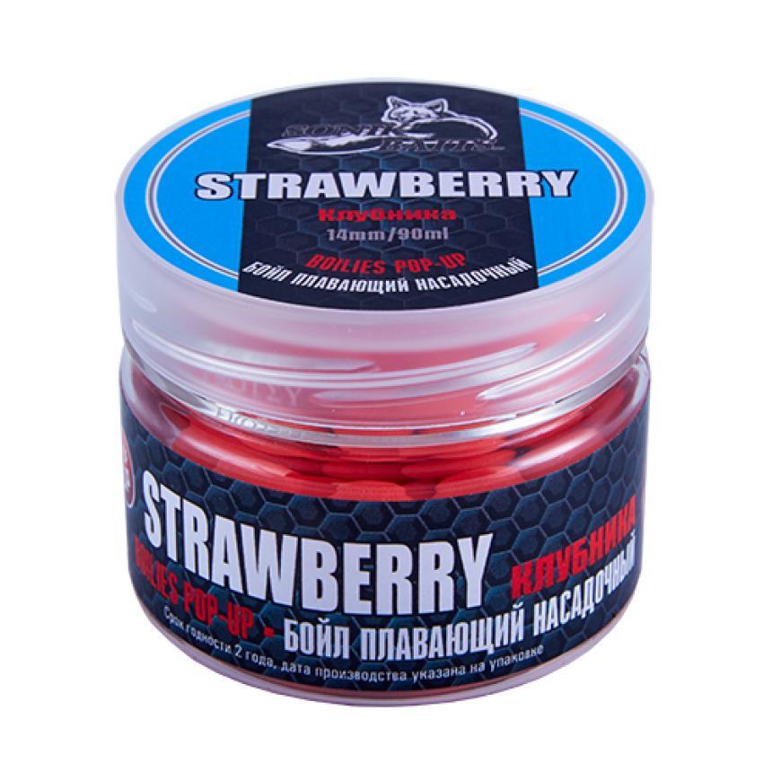 Бойлы Sonik Baits Pop-Up 14мм Strawberry Fluo