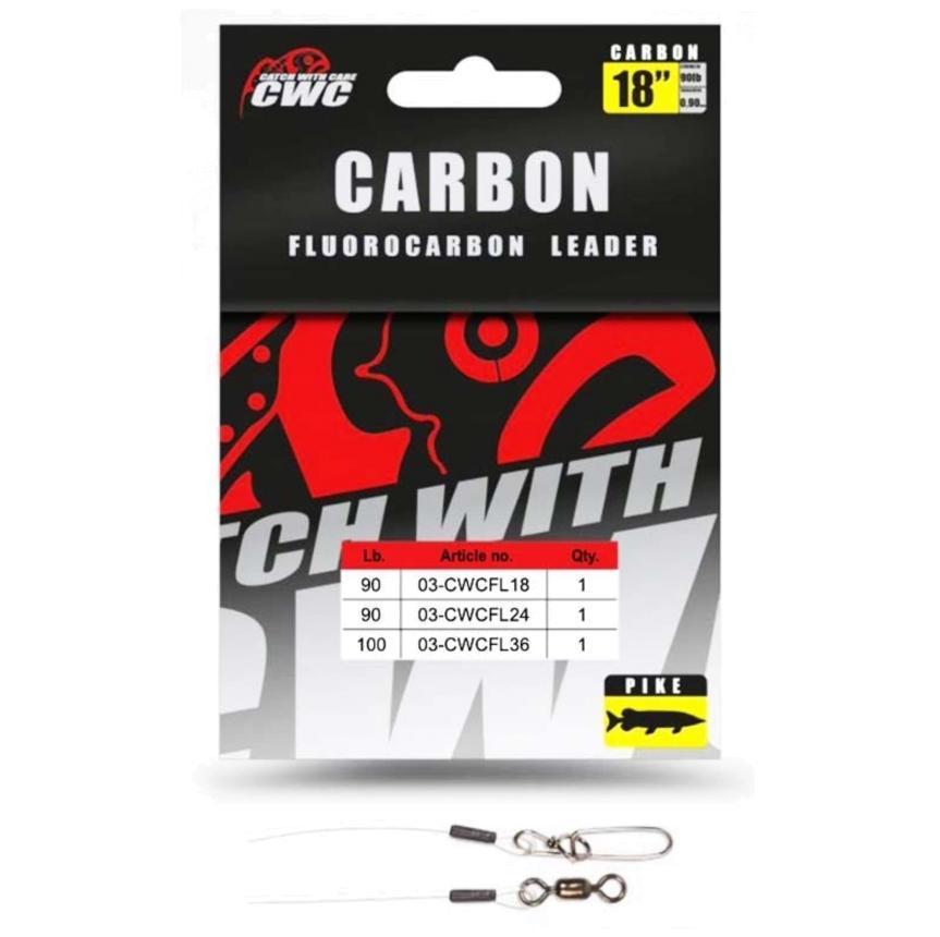 Поводок флюоркарбоновый CWC Carbon Leader 36 91см 100lb