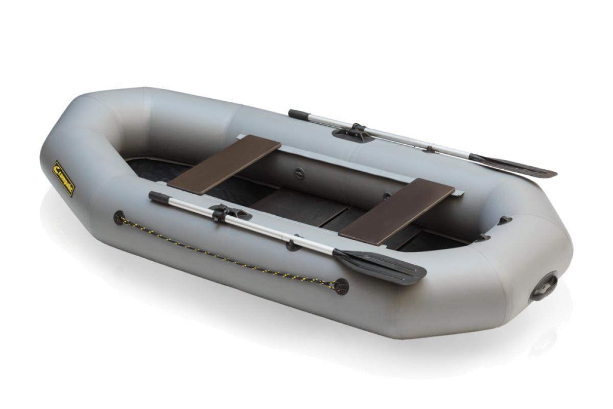 Лодка ПВХ Leader Компакт-265 гребная серый