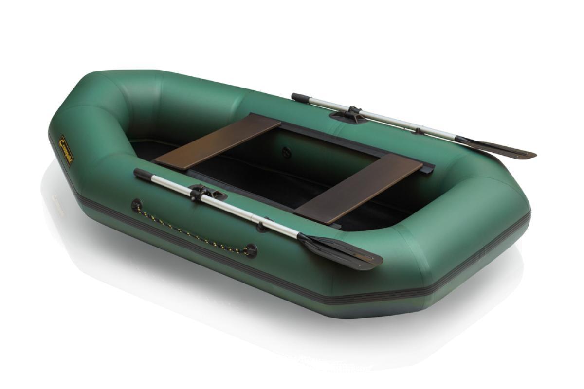 Лодка ПВХ Leader Компакт-255 гребная зеленый