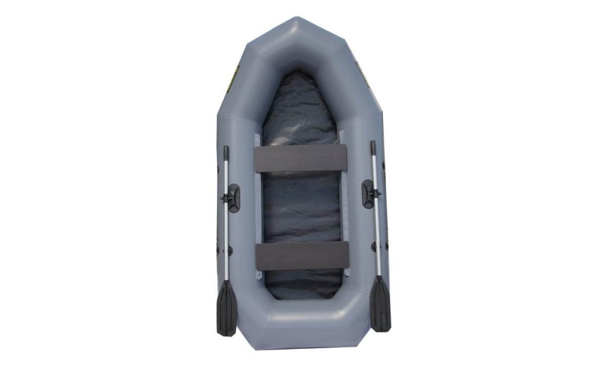 Лодка ПВХ Leader Компакт-255 гребная серый