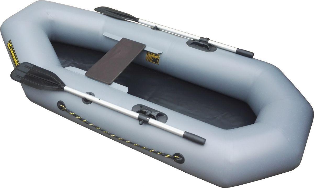 Лодка ПВХ Leader Компакт-220 гребная серый