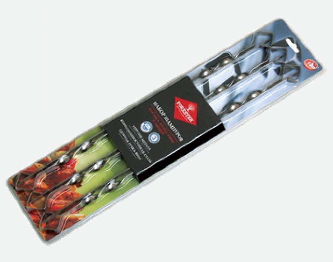 Набор шампуров Forester 55 см никель в блистере