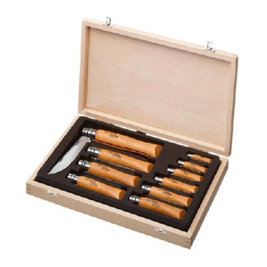 Набор ножей Opinel в деревянной коробке из 10 ножей