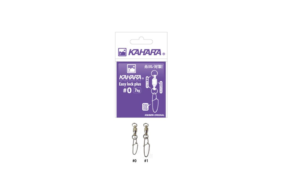 Карабин с вертлюгом Kahara Easy Lock Plus №1