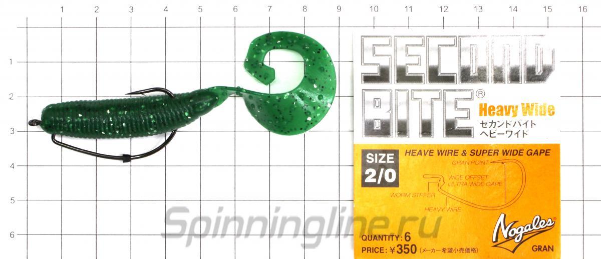"""Приманка FAT G-Tail Grub 4"""" 419 Chart Pepper - фотография оснащения приманок 2"""