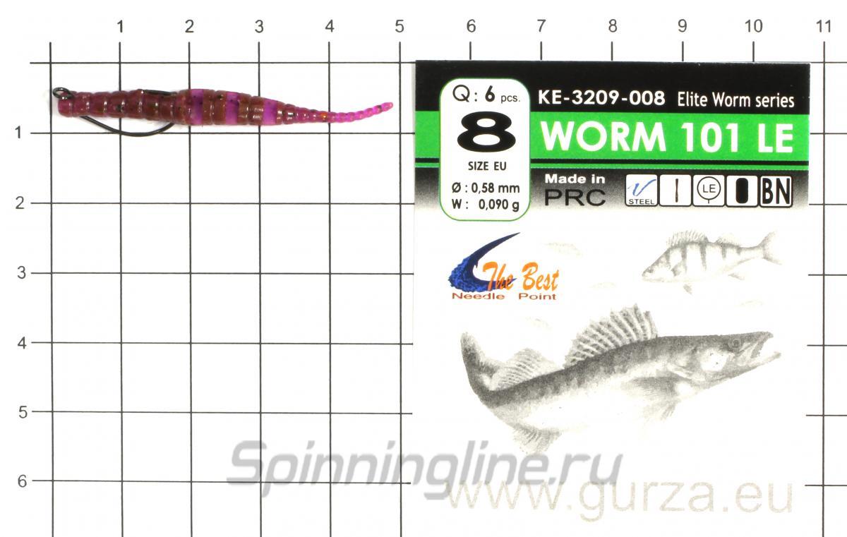 """Приманка Crazy Fish Polaris 1.8"""" 4-2 - фотография оснащения приманок 3"""
