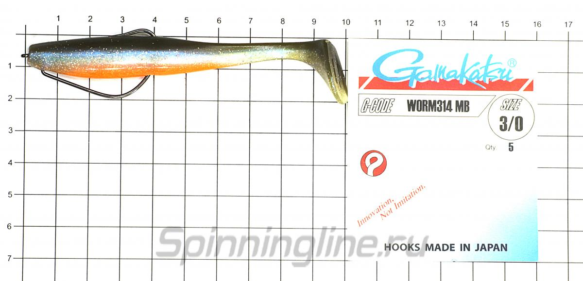 Приманка Narval Choppy Tail 100 005-Magic Motoroil - фотография оснащения приманок 1