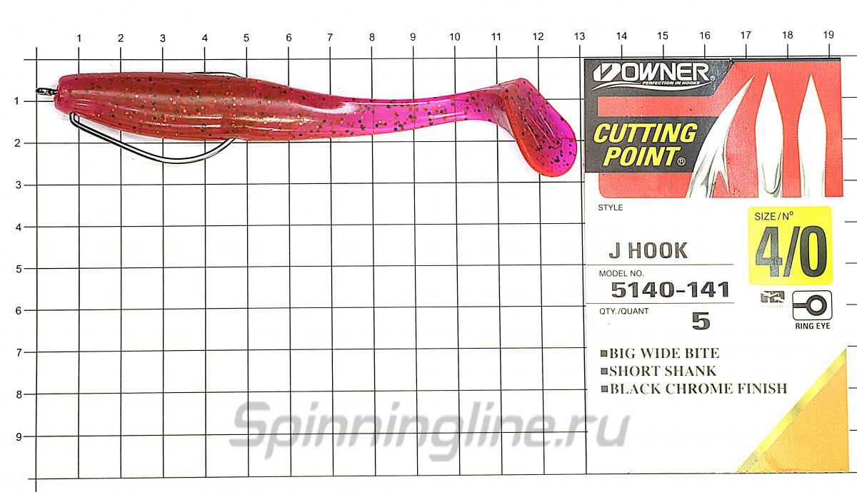 Приманка Narval Choppy Tail 120 005-Magic Motoroil - фотография оснащения приманок 3
