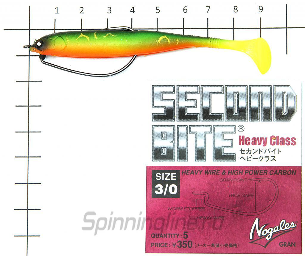 Приманка Basara Soft Swim 89/PG04 - фотография оснащения приманок 2
