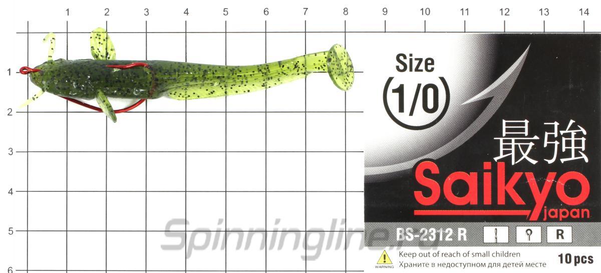 """Приманка FishUp Catfish 3"""" Caramel-Green & Black - фотография оснащения приманок 1"""