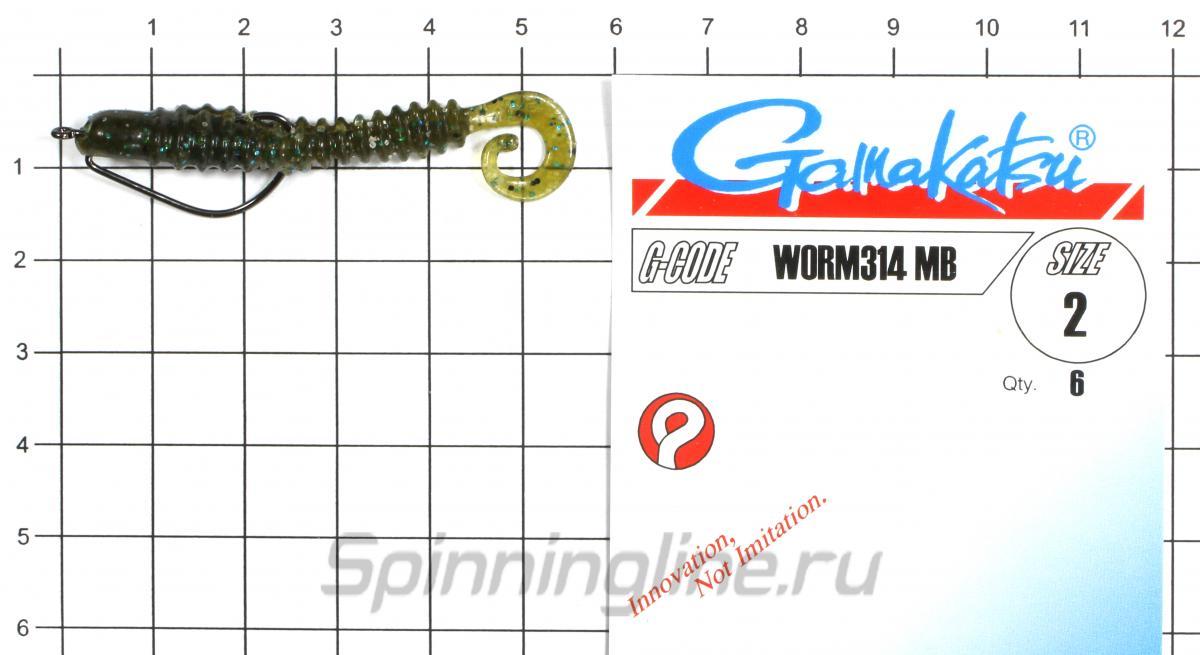 """Приманка Crazy Fish Active Slug 2"""" 9-6 - фотография оснащения приманок 3"""