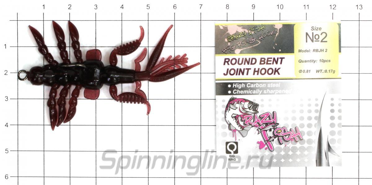 """Приманка Bait Breath Skeleton Shrimp 2.7"""" S836 - фотография оснащения приманок 1"""