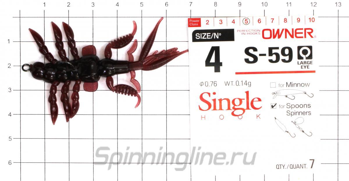 """Приманка Bait Breath Skeleton Shrimp 2.7"""" S836 - фотография оснащения приманок 2"""