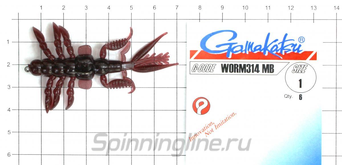 """Приманка Bait Breath Skeleton Shrimp 2.7"""" S836 - фотография оснащения приманок 3"""