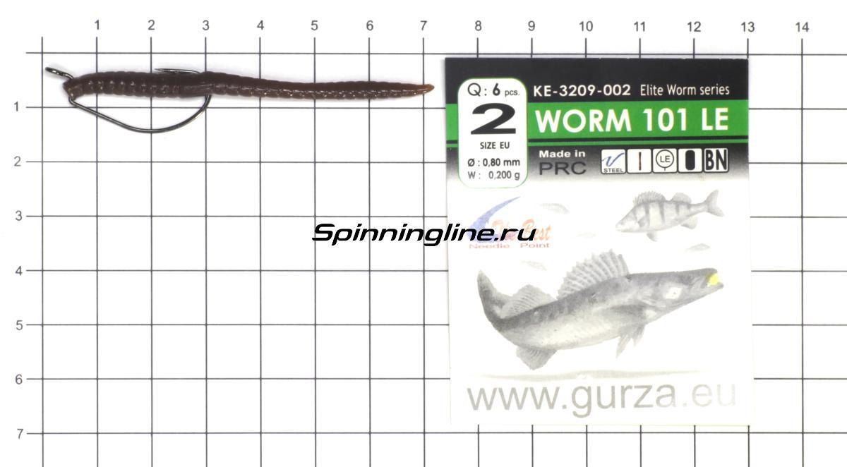 """Приманка Crazy Fish MF Classic Worm 2.8"""" 90-9 - фотография оснащения приманок 1"""
