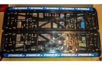Рамка номерного знака Spinningline синяя - фотография пользователя