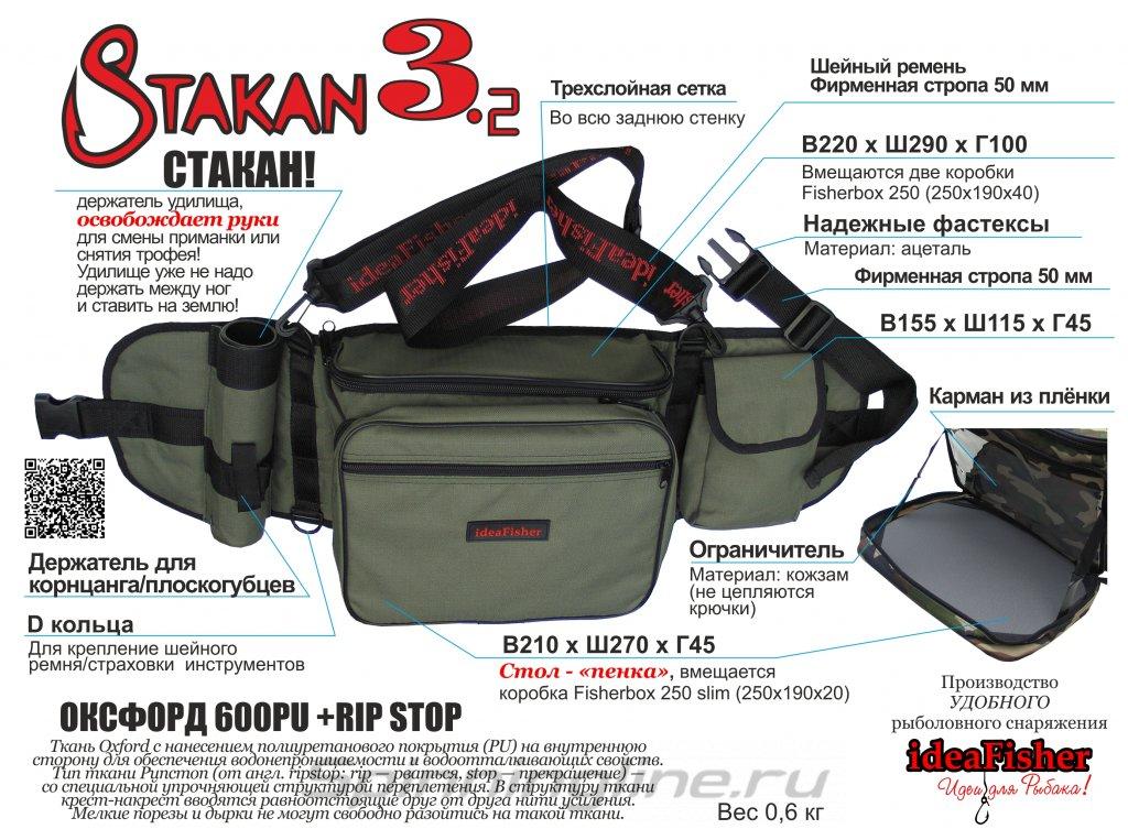 Пояс-держатель удилища+сумка спиннингиста Stakan 3.2 black - фотография загружена пользователем 7