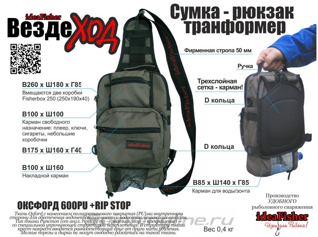 Рюкзак IdeaFisher Вездеход олива - фотография загружена пользователем 2